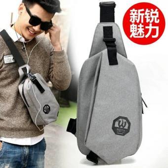 Tas Pria Import Slempang Selempang Sling Bag Dengan USB PORT Dan Earphone Hole K7S5