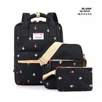 Tas Ransel Backpack 3in1 Kuncup Hitam Best Seller