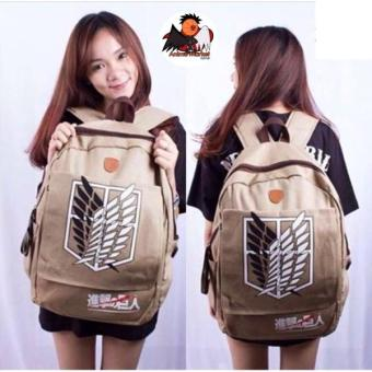 Tas Snk Attack On Titan Canvas Ransel (Anime Market) - Sjef19