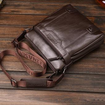 Tas tangan kulit kualitas tinggi tas crossbody bag tas kulit pria Korea bagian vertikal maupun bisnis