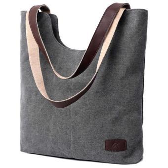 Tas Tote Bag Wanita Canvas - Gray
