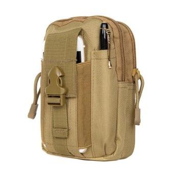 Tas WB2 Pinggang Pria Outdoor Tactical Army Dompet Pouch Kanvas Sarung HP Slempang Sling Bag Import