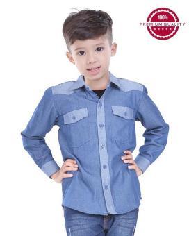 TDLR - Kaos / T-shirt Anak Laki-Laki Biru Kombinasi - TYA 1007