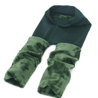 Teamtop Baru Wanita Solid Musim Dingin Tebal Hangat Fleece Dilapisi Celana Peregangan Termal-Intl
