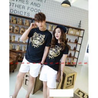 The Fashion Story - Kaos Couple Paris Tiger T-shirt Couple Baju Pasangan Kaos Kompak