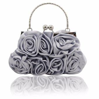 Desain Bunga Satin And Sutra Wanita Brial Pernikahan Tas Kopling/malam (lebih Banyak Warna