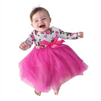 Review of Balita Anak Bayi Gadis Floral Renda Princess Tutu Baju Monyet Gaun Pakaian Pakaian-