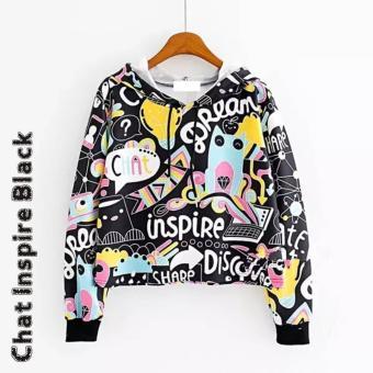 TOF Sweater Wanita Sweater Cewek Sweater Hoodie CHAT INSPIRE SWEATER