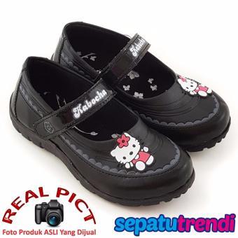 TrendiShoes Sepatu Sekolah Anak Perempuan Cantik KB021 - Hitam