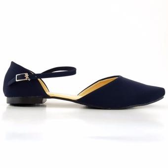 TrendiShoes Sepatu Wanita Flat Shoes d'Orsay Ankle Strap SO02 - .