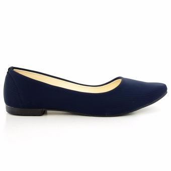 TrendiShoes Sepatu Wanita Flat Shoes Elegan SO01 - Navy .