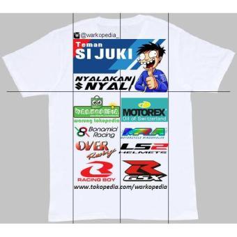 Tshirt / Baju / Kaos Custom Desain Sablon Dtg Teman Sijuki Suzuki - Jftomk