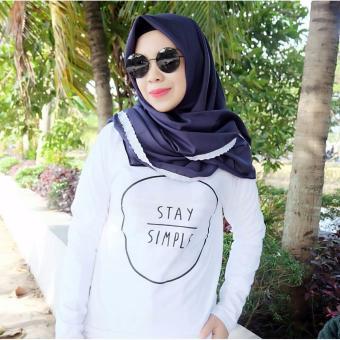INC Tumblr Tee / T-Shirt / Kaos Wanita Stay Simple - Putih