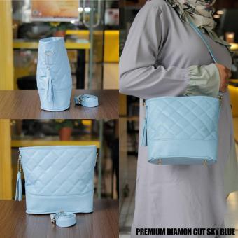 Ubay Shop - Sling Bag Shoulder Bag Diamond Cut SKY - Blue