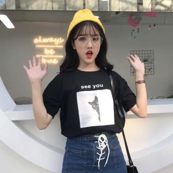 Ulzzang Korea Fashion Style Musim Semi Dan Musim Panas Baru Huruf Cetak Lengan Pendek Kaos (