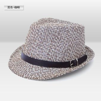 Jazz Topi Luar Rumah Pelindung Sinar Matahari Koboi Topi Gentleman Pria dan  Wanita 3734ecb55d