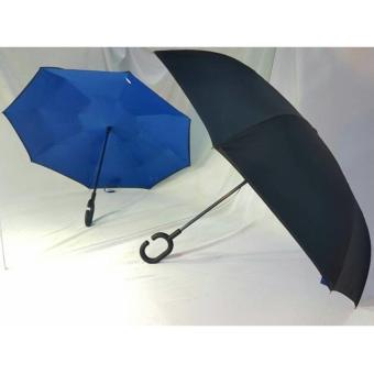 Payung Terbalik Anti Basah Gagang C Unik