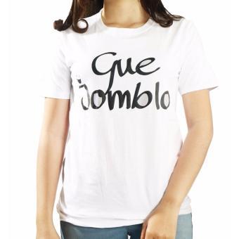 Vanwin - Kaos Cewek / T-Shirt Wanita / Tumblr Tee Gue Jomblo - Putih