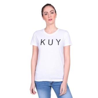 Vanwin - Kaos Cewek / Tumblr Tee / T-Shirt Wanita KUY - Putih