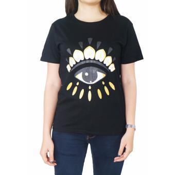 Vanwin - Tumblr Tee / Kaos Cewek / T-Shirt Wanita Eye - Hitam ...