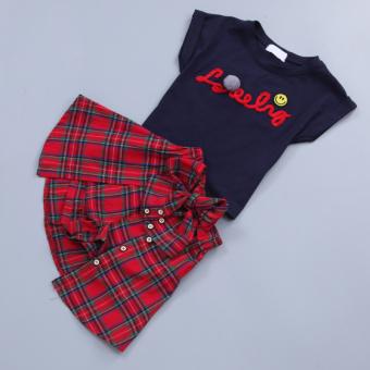 Versi Korea dari gadis baru anak-anak rok (Biru tua)