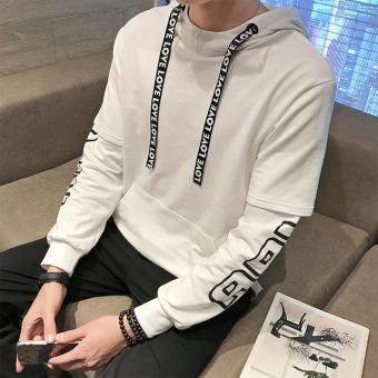 ... Atasan Beritsleting Pria Bertudung Trendi Versi Korea W53 Topi Biru Source Atasan Pulover Bertudung Pria