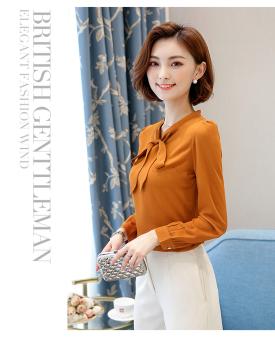 Baju Dalaman Korea Modis Gaya Jersey Rayon Musim Semi atau Musim Gugur Baru (Oranye)