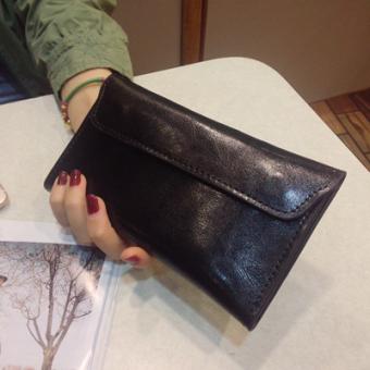 Versi Korea dari perempuan tipis gesper ms. dompet dompet yang baru (Hitam) Tas