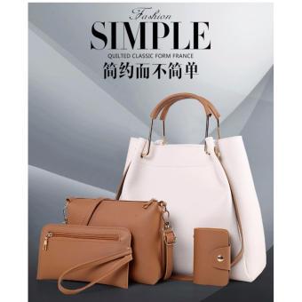 Vicria Tas Branded Wanita - High Quality Korean Style 4in1 SimpleBag - Almont