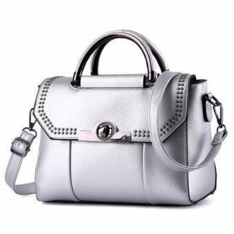Vicria Tas Branded Wanita - Korean High Quality Bag Style Poin - SILVER