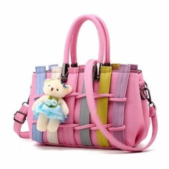 Vicria Tas Branded Wanita - Korean High Quality Fence Bag Style- Pink