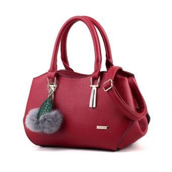 Vicria Tas Branded Wanita - Korean High Quality With Unique Soft Toys - WINE RED