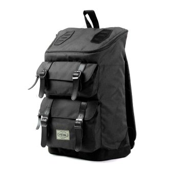 Visval Tas Ransel Laptop Backpack Majestic - Black