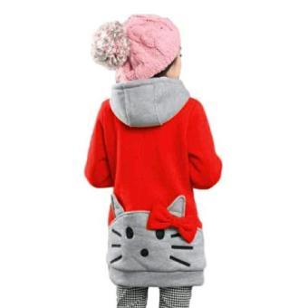 Vrichel Collection Jaket Anak Kitty (Merah) .