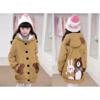 Vrichel Collection - Jaket Anak Perempuan Bear & Bunny (Coksu)