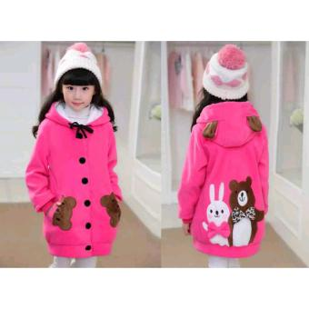 Vrichel Collection - Jaket anak perempuan Bear & bunny (fanta)