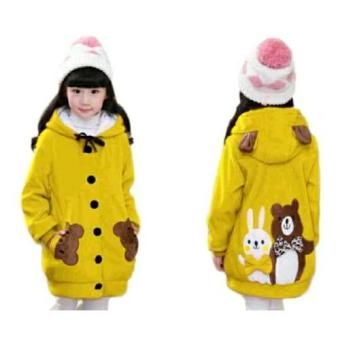 Vrichel Collection - Jaket Anak Perempuan Bear & Bunny (Kuning)