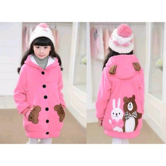 Vrichel Collection - Jaket anak perempuan Bear & bunny (pink)