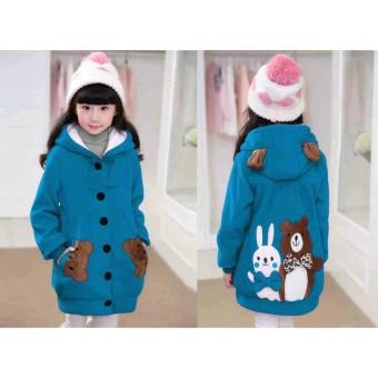 Vrichel Collection - Jaket Anak Perempuan Bear & Bunny (Turkish)