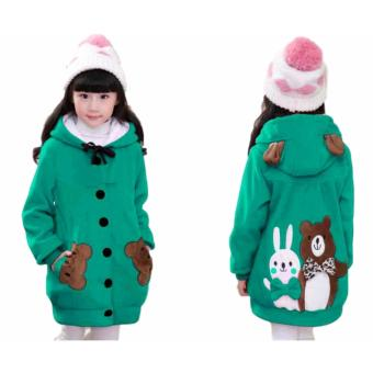 Vrichel Collection - Jaket Anak Perempuan Bear & Bunny (Tosca)
