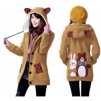 Vrichel Collection Jaket Wanita Bear & Bunny (Coklat)