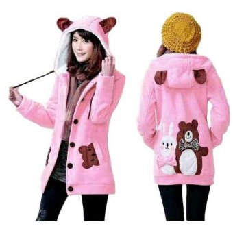 Vrichel Collection Jaket Wanita Bunny & Bear (Pink)
