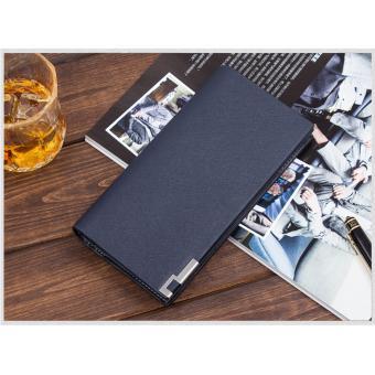 Wallet - Dompet Panjang Pria Cowok Import - Men's Long Wallet - Biru - SA3839B