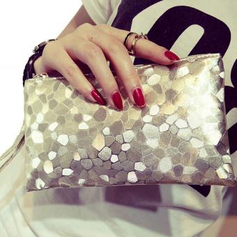 Wanita Berkilau Menyilaukan Payet Clutch Bag Tas Tangan Tas Pesta Malam Emas