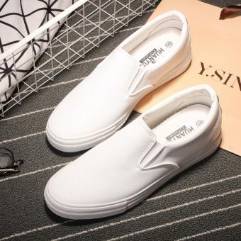 Warna Polos Musim Semi atau Musim Gugur Laki-laki You Membantu Sepatu Kanvas Rendah (