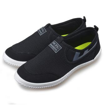 Musim panas Warrior Sepatu jaring pria bernapas casual permukaan jala Sepatu  olah raga Ringan tahan banting c041842781