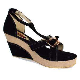 Wedges Fashion Casual 'Manik Pita' Suede - Black