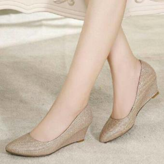 Wedges Kerja Pantopel Dubai Gold