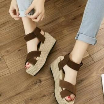 Wedges Sepatu Sandal Wanita Murah elfan shop