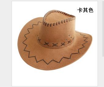 Fitur Baru Wanita Pria Topi Fedora Laken Datar Merasa Koboi Barat ... 766a94ecff